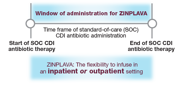 Recommended Dosing and Window of Administration for ZINPLAVA™ (bezlotoxumab)